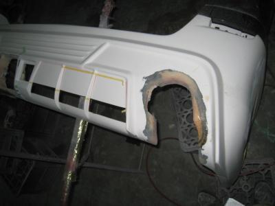 トヨタ、アルファードのエアロ加工修理 (安城市からご来店)