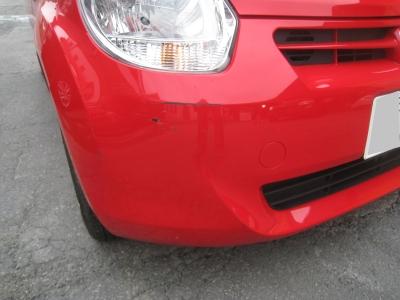 トヨタ、パッソのキズ、へこみ板金塗装修理 (碧南市からご来店)