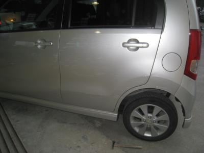 スズキ、ワゴンRの板金塗装修理  (西尾市からご来店)