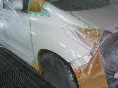 ホワイトパール塗装終わりました。