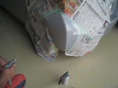 キズが取れサフェーサーを塗装しました。