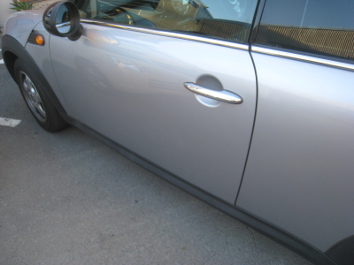BMWミニクーパー クラブマンのキズ、へこみ板金塗装修理 (西尾市からご来店)